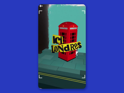 Londres Poster Augmented museum motion design poster augmentedreality dogs london motion