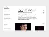 Drop blog navigation - UI Design