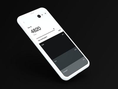 Zero APP - UI design tracking health running steps pedometer animation ui app white black brutalism