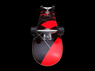 Kinetic - Skateboard Red Deck