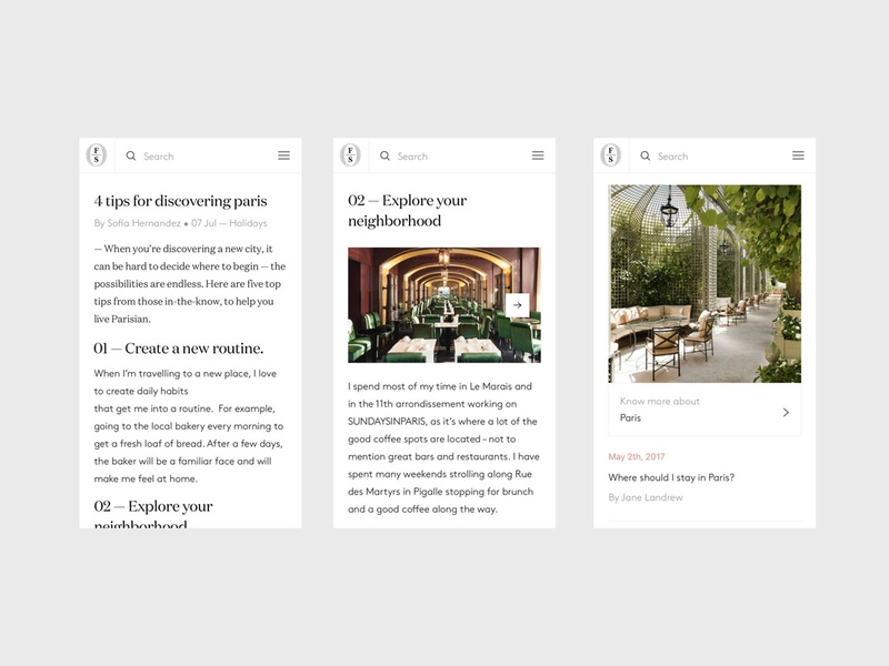 Onefinestay - Article - Mobile flat minimal clean app clean ux  ui city guide house design house city