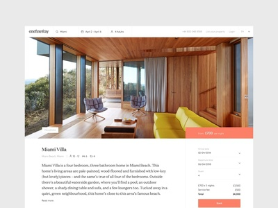 Onefinestay - Property mini icons flat web ux  ui minimal airbnb property listing property house page home