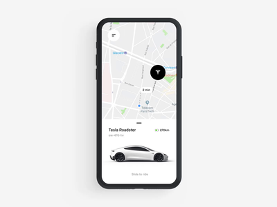 002 Car Sharing APP c4d 3d battery green trips sharing geolocation controller vehicle ui travel tesla map trip carpooling rental car