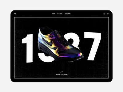 005 3d rotate sneakers shoes product airmax nike illustration octane 3d animation c4d branding ui interaction