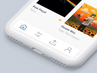 007 Toolbar bump instagram social clean app design flat animation phone ios app ios menu toolbar principleapp branding ui interaction