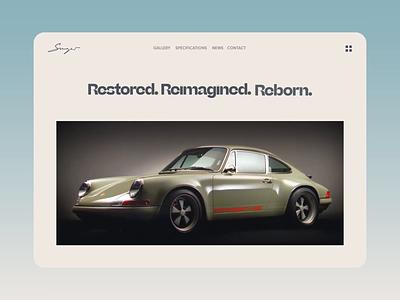 014 Web Animation ui interaction branding web sport car home ease in out 911 singer porsche gradient animation interactive design
