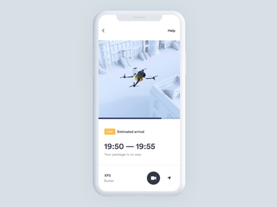 017 Autonomous Drone delivery - part 2 newyork location map amazon shipping delivery app ios drone mobile clean orthonormai octane 3d design c4d branding animation ui interaction
