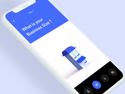 018 Business size illustration app design lowpoly 3d product branding animation ui interaction