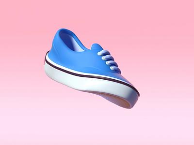 Vans era bend low poly isometric illustration loop octane c4d sneakers shoes authentic era vans lowpoly 3d animation 3d bend bending