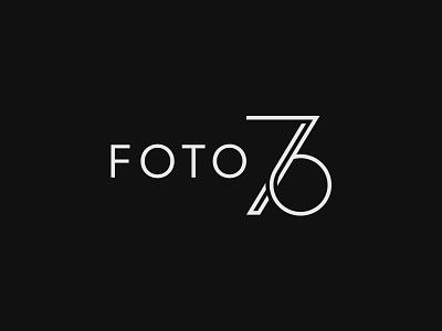 FOTO 76 Logo Design subtle minimal elegant portrait wedding cinematographer freelance photographer photo identity mark symbol 6 7 76 number monogram logo design logotype logo