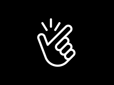 Finger snap icon ui gesture minimal stroke line linear snap pictogram palm fingers hand finger symbol icon design icons icon