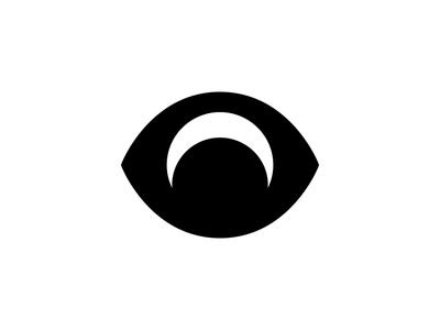 Moon eye clothing appeal space negative negativespace ominous moon ux eye branding identity logo
