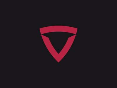 ITORO bull negative-space minimal simple network security defence tech identity branding shield logo