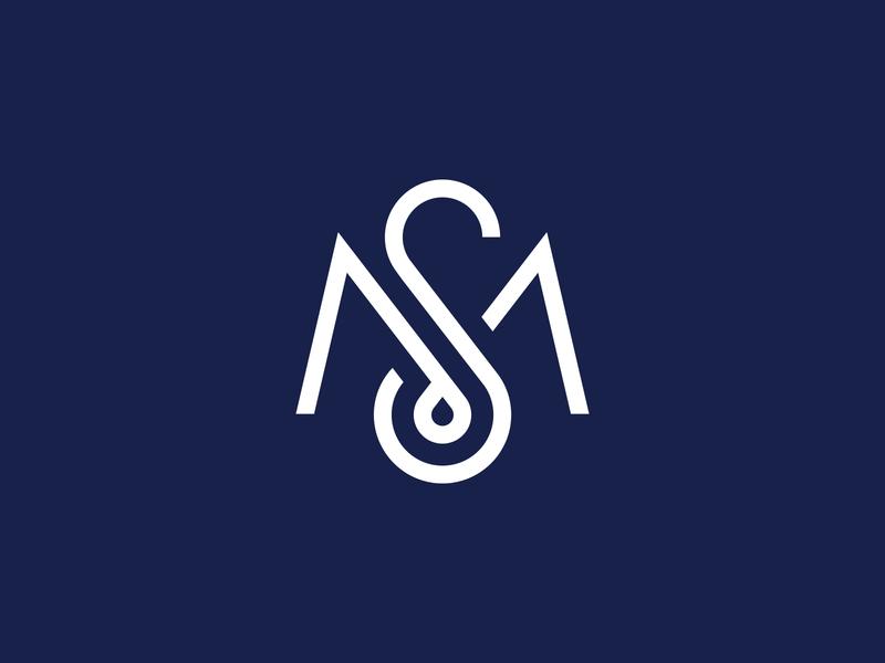 MS lettering corporate ms s m branding brand identity monogram letters logotype logo