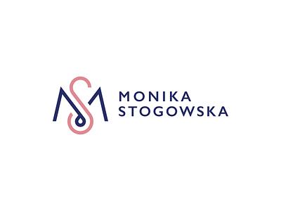 MS minimal ci woman feminine translator copywriter id type identity branding logotype logo