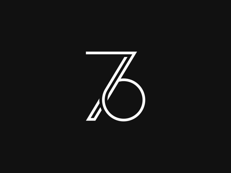 76 minimalistic symbol photographer ci 6 7 76 number monogram mark brand branding corporate id identity logodesign logotype logo