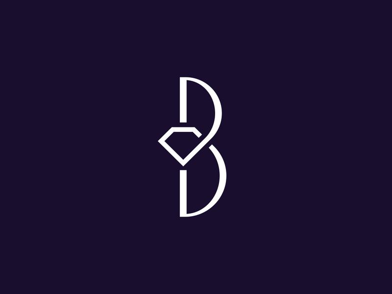 B elegant monogram identity design brand design logo design dental clinic diamond b brand logotype type identity branding logo