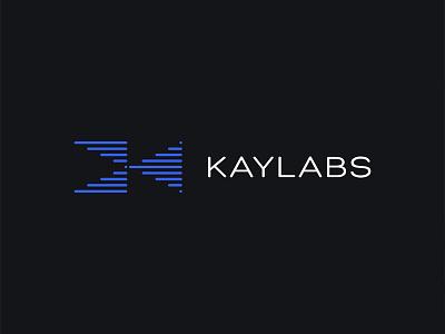 Kaylabs data it communication ai machine learning medtech sensor electronic startup tech negative space logo negative space logo design logotype logo