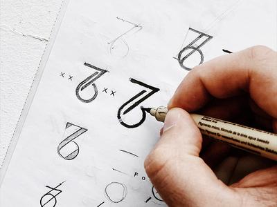 76 subtle minimal elegant cinematographer freelance photographer photo identity mark symbol 6 7 76 numbers monogram logo design logotype logo