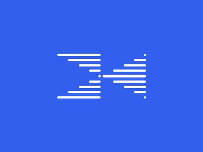 Kaylabs Symbol blue monogram linear medical data it communication ai machine learning sensor electronic startup tech negative space logo negative space logo design logotype logo