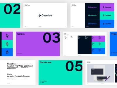 Cosmico | Brand Guidelines assets visual identity branding brand design design brand guidelines brand identity guidelines
