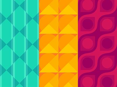 Pattern explorations coloful illustration ui colors shapes explosion geometric visual design brand design design visual identity pattern branding
