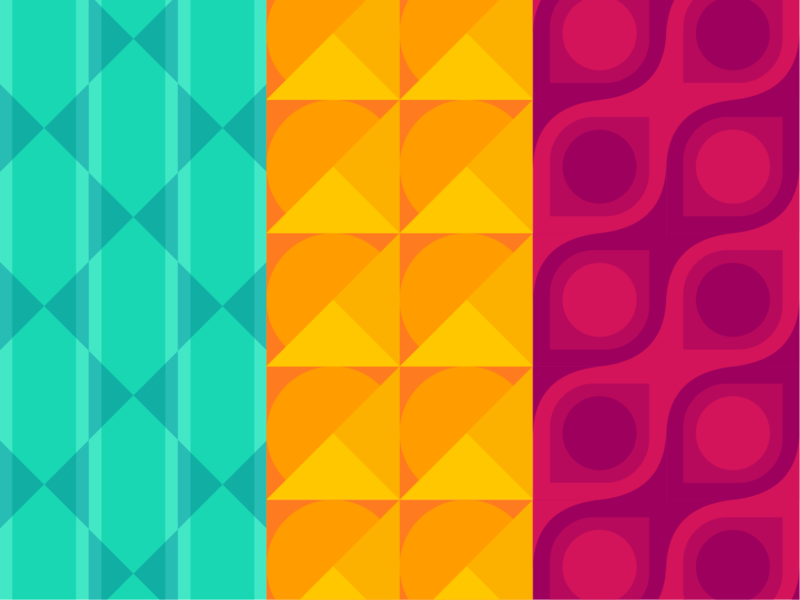 Pattern explorations coloful illustration ui colors shapes explosion geometric visual design brand design design visual identity pattern branding
