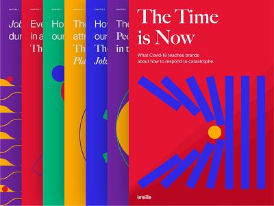 The Time is Now coronavirus covid-19 paper covid19 typography visual design flatdesign geometric design design geometic branding brand design visual identity illustration