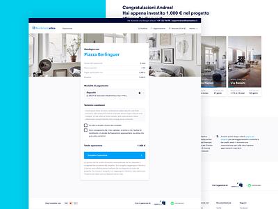 Rendimento Etico Invest web design website brand design design payment ux design ui design visual design branding real estate crowdfunding