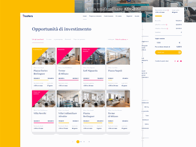 Trusters Invest product page card typography ui ux icon web design website ui design ux design brand design visual identity visual design logo real estate crowdfunding branding