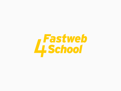 Fastweb4School Logo design illustration logo mark brand design crowdfunding branding visual identity visual design logo logo design logotype