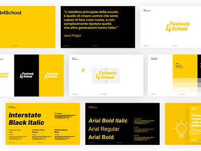 Fastweb4School | Brand Identity brand brand identity logo illustration visual design visual identity crowdfunding brand design branding brand guidelines guideline brand manual