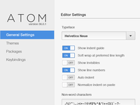 Atom.io Beta Settings