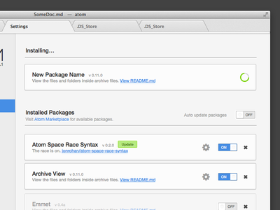 Atom.io Package Manager atom.io beta css sliders packages
