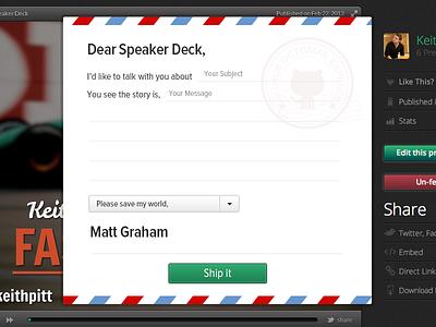 Feedback Form feedback speaker deck github