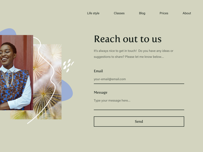 Get in touch page design website web clean dailyui daily ui ui design