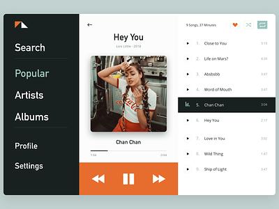 Daily UI Music Player ui web app webapplication webdesign music player music clean dailyui daily ui ui design