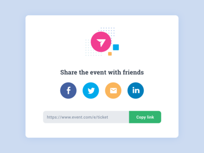 Daily UI Social Share