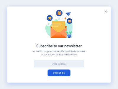Daily UI Subscribe web ui design ui vector daily ui illustration popup subscription dailyui