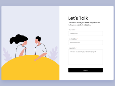 Daily UI Contact Us Page flat ui design branding website vector illustration b2b business web clean ui daily ui dailyui