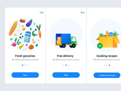 Daily UI Onboarding Food Delivery App food truck onboarding vector clean flat ui design illustration delivery app daily ui dailyui