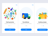 Daily UI Onboarding Food Delivery App