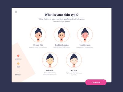 Daily UI Pop-Up ui design vector website web flat clean daily ui illustration face skin dailyui