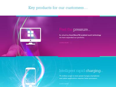 Product Parallax Showcase Panel design graphic design creative design digital art typography parallax