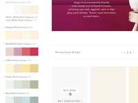 Faceted Colour Swatch Selector