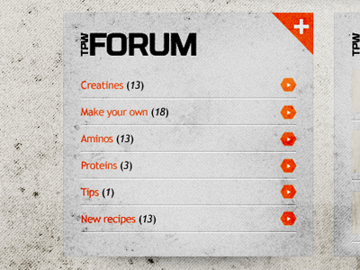 Feed Block design web design grunge dirty topics block