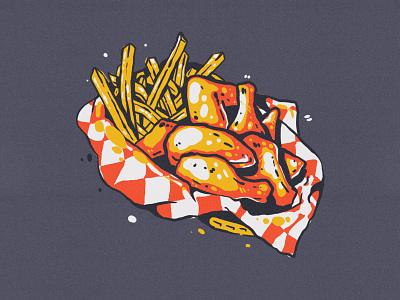 Chicken Basket drawing illustration chicken