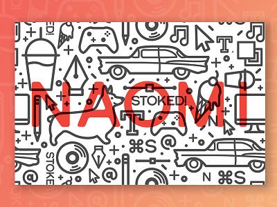 Naomi Pattern corgi chevy naomi business card overlay icon pattern