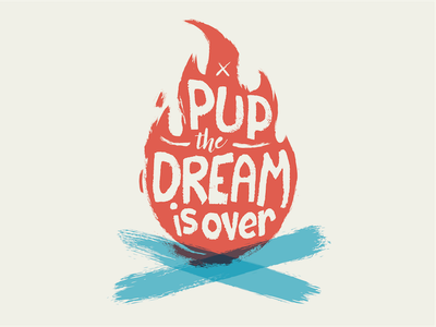 PUP illustrator vector vector illustration pup the band overset illustration fire lettering pup