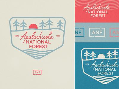 Apalachicola National Forest Badge vintage vintage badge retro national park forest summit horizon badge